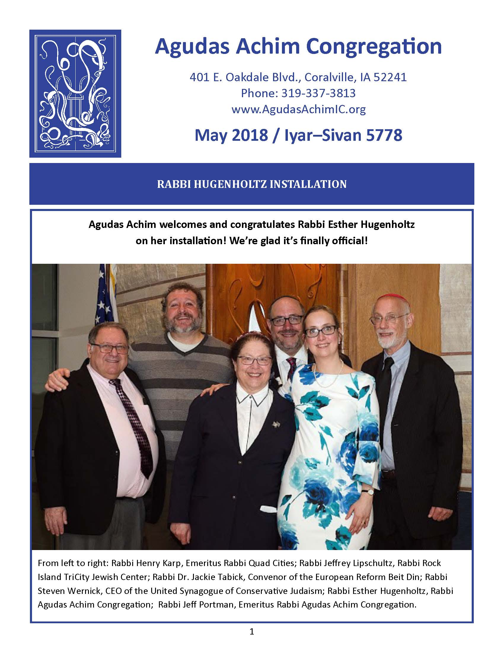 May 2018 Bulletin