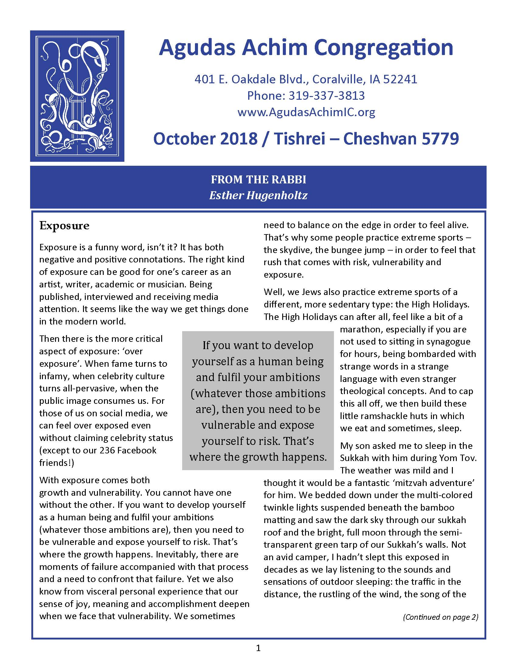 October 2018 News Bulletin