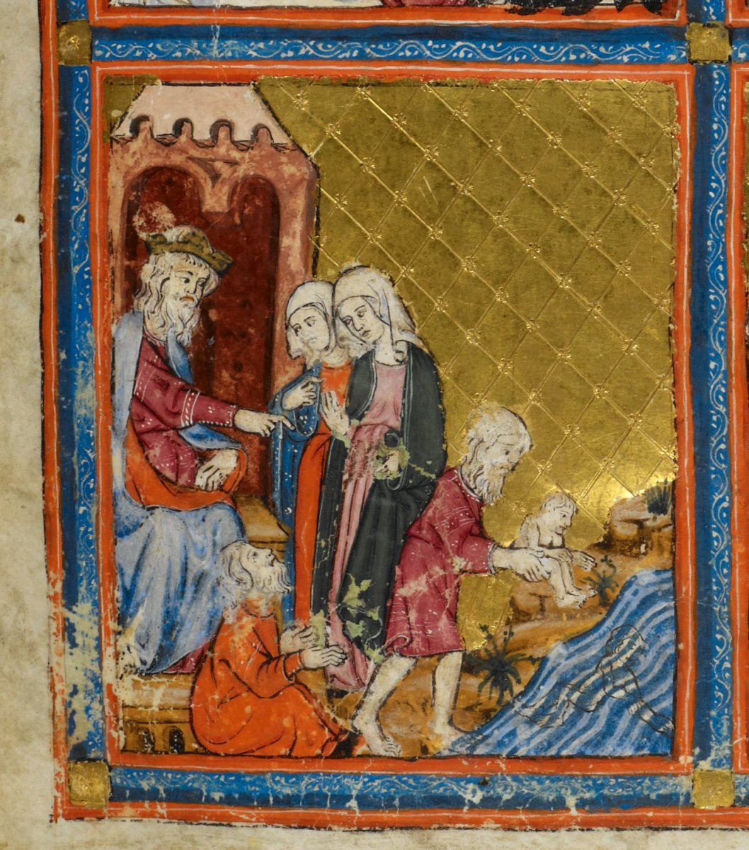 golden_haggadah_pharaoh_and_the_midwives
