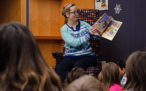 Hanukkah Story Time in the Iowa City Public Library
