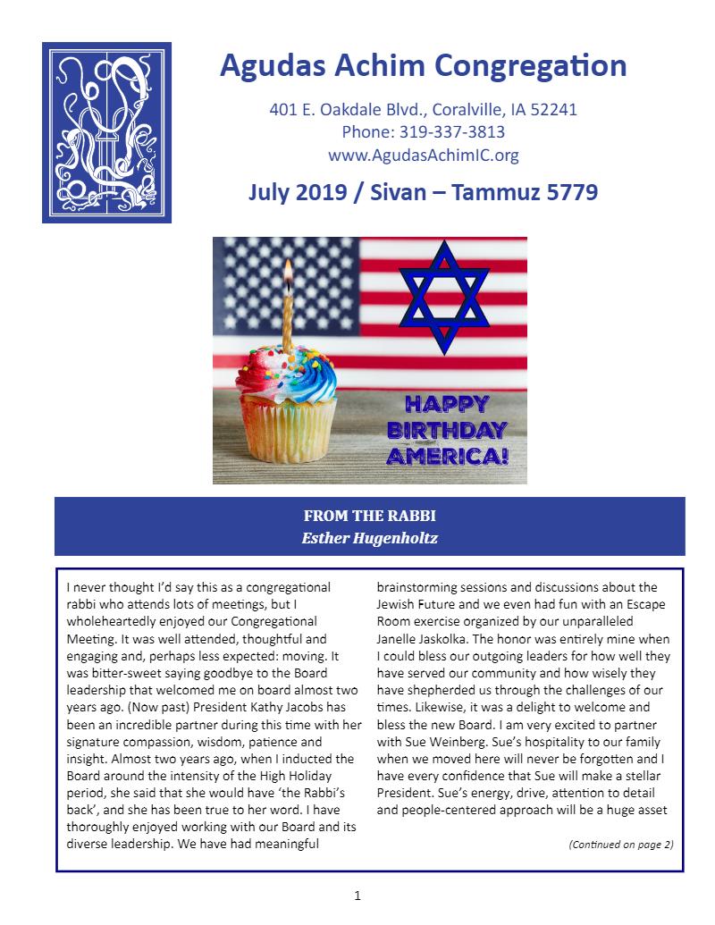July 2019 Bulletin
