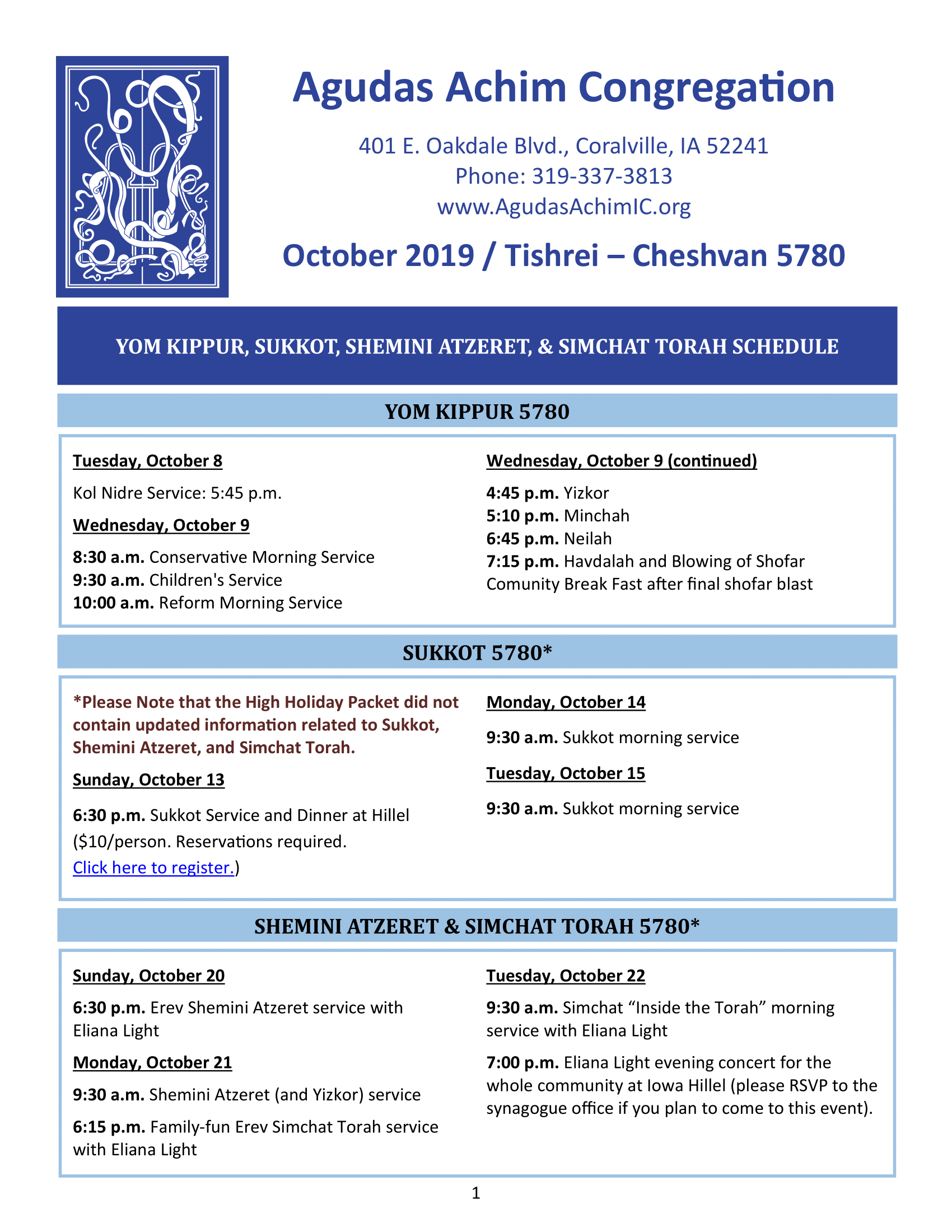 October 2019 News  Bulletin