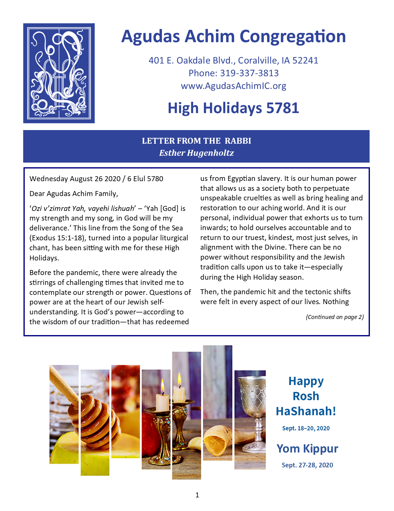 HHD Bulletin Cover