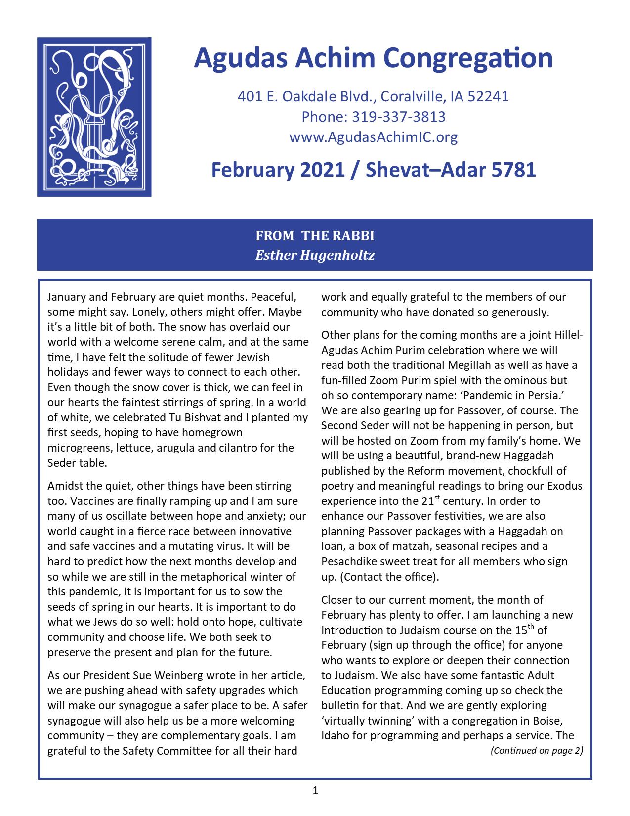 February 2021 Bulletin