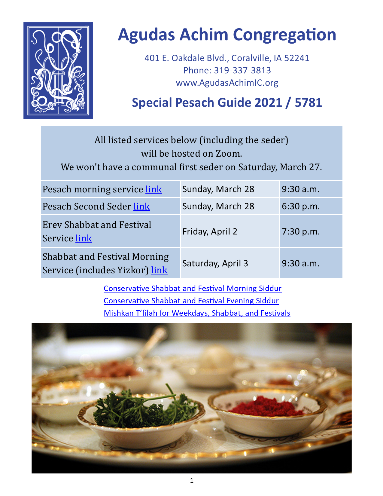 2021 Special Pesach Guide Cover