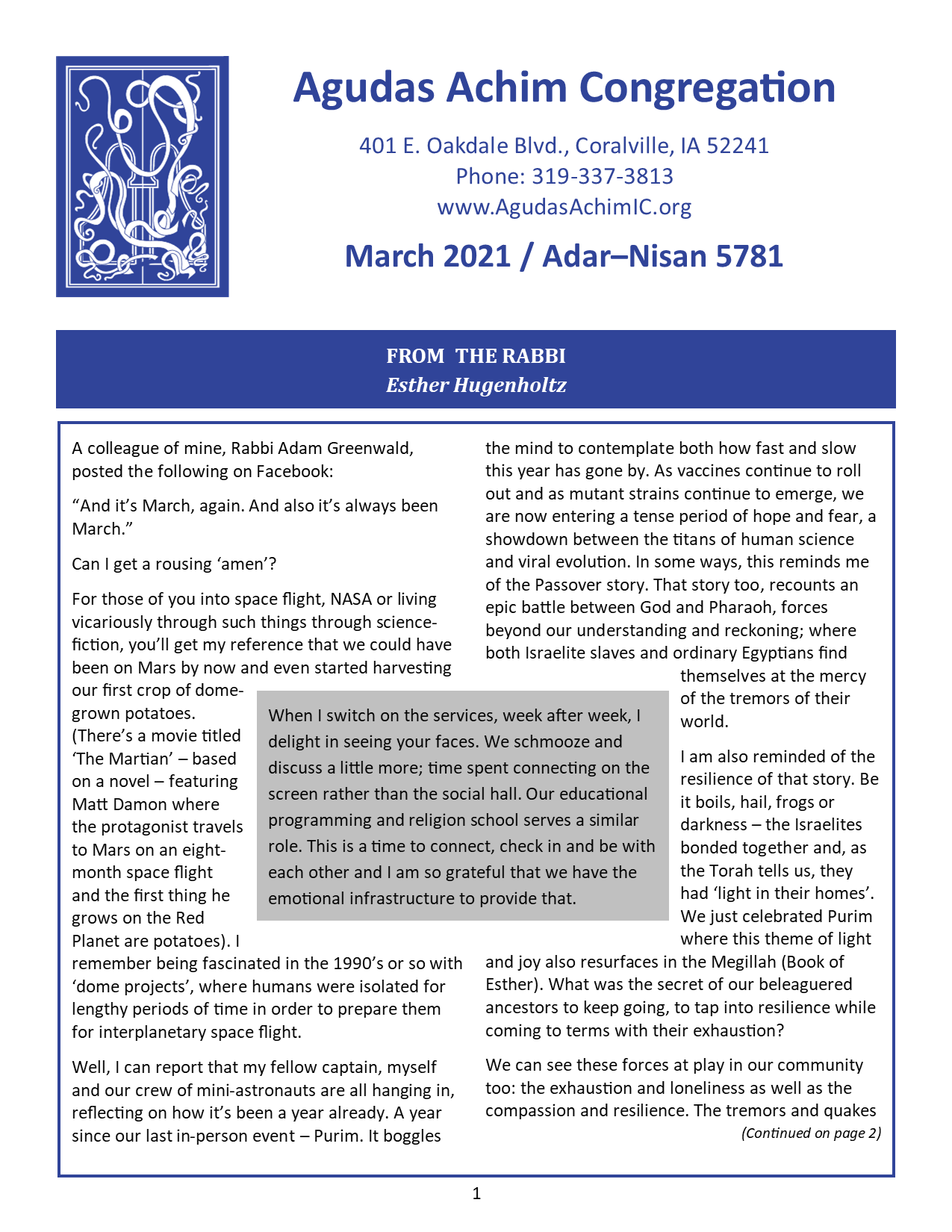 March 2021 Bulletin
