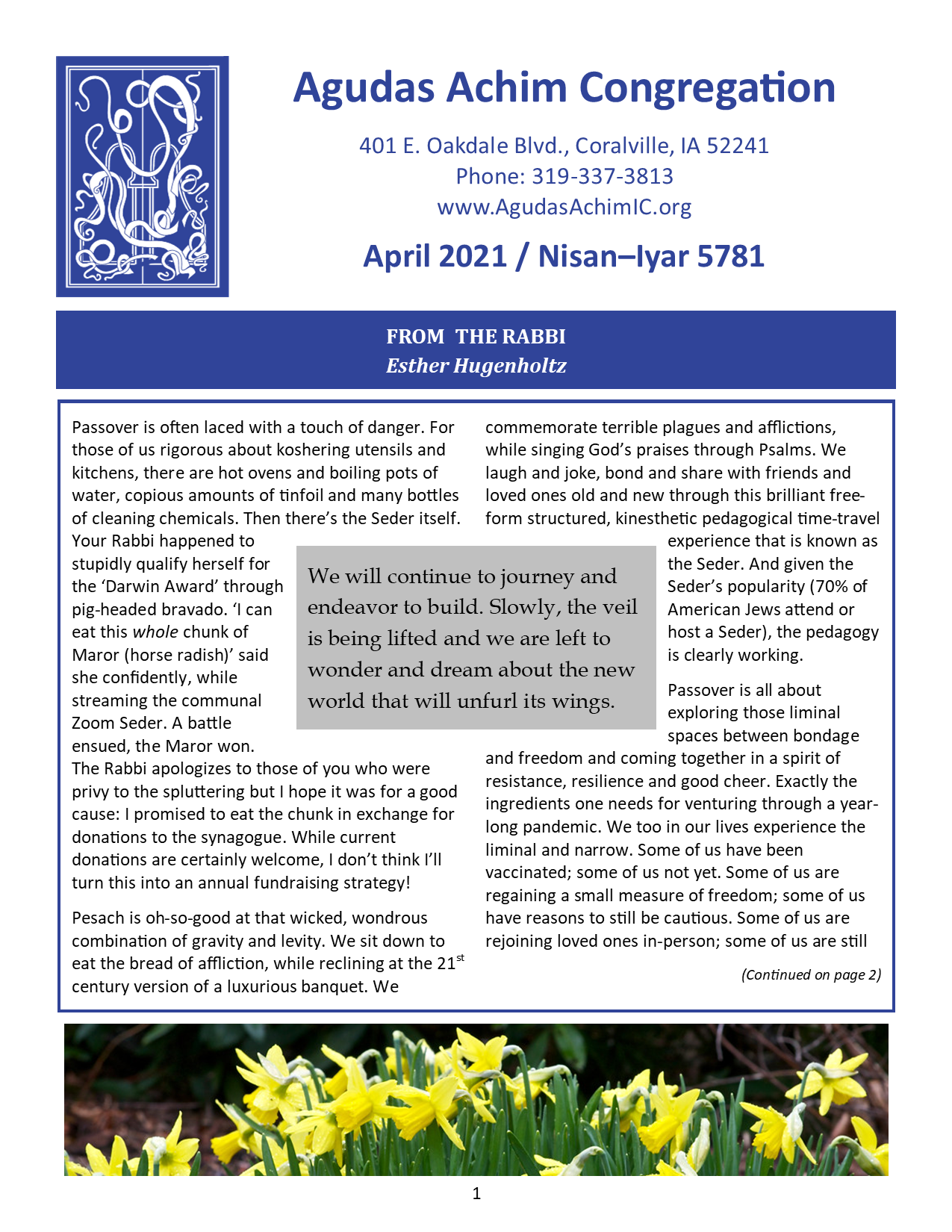 April 2021 Bulletin Cover