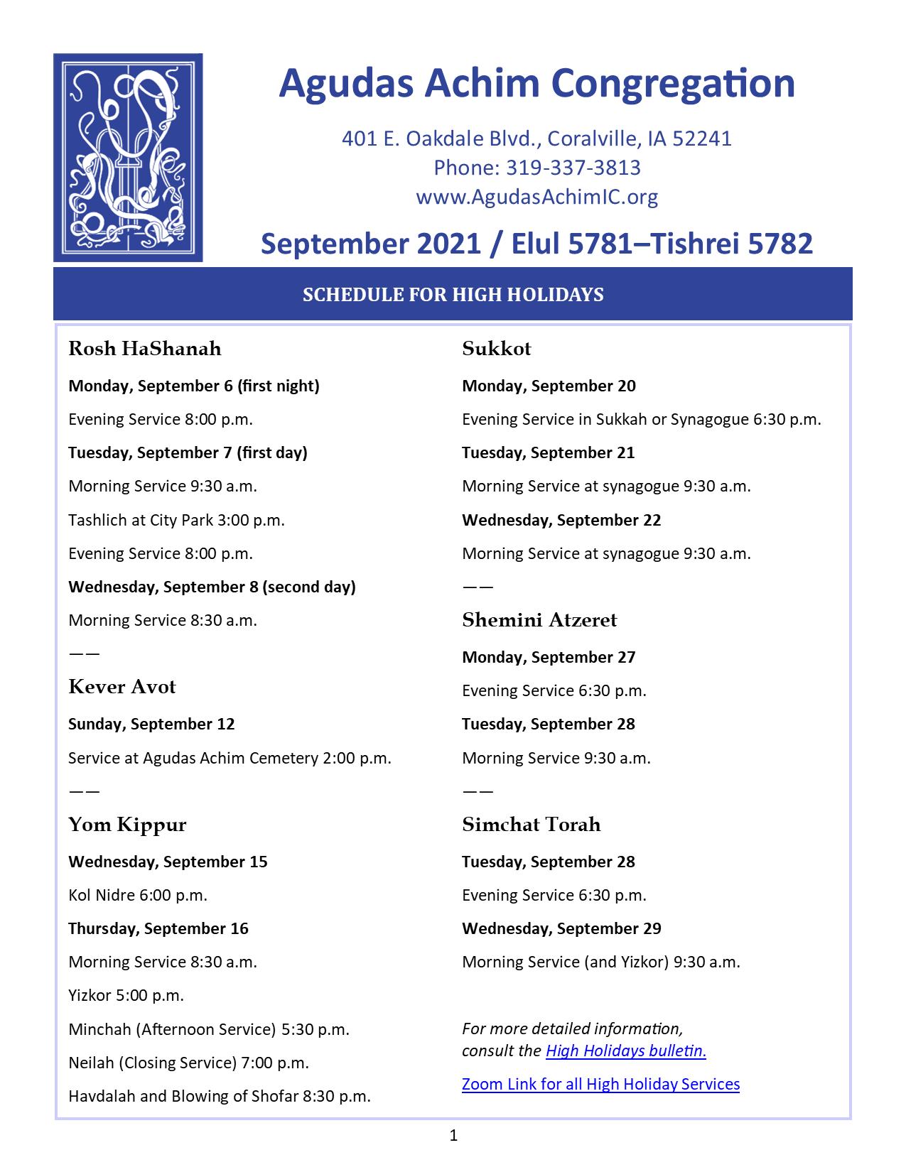 September 2021 Bulletin Cover